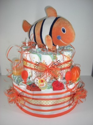Windeltorte Deluxe orange Nemo